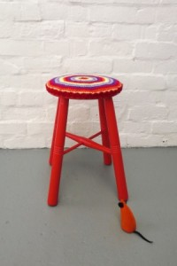 Red Stool Crochet