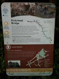 Kirkstead Bridge Information board
