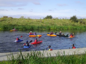 Kayaking on the River Witham with Slea Paddlers