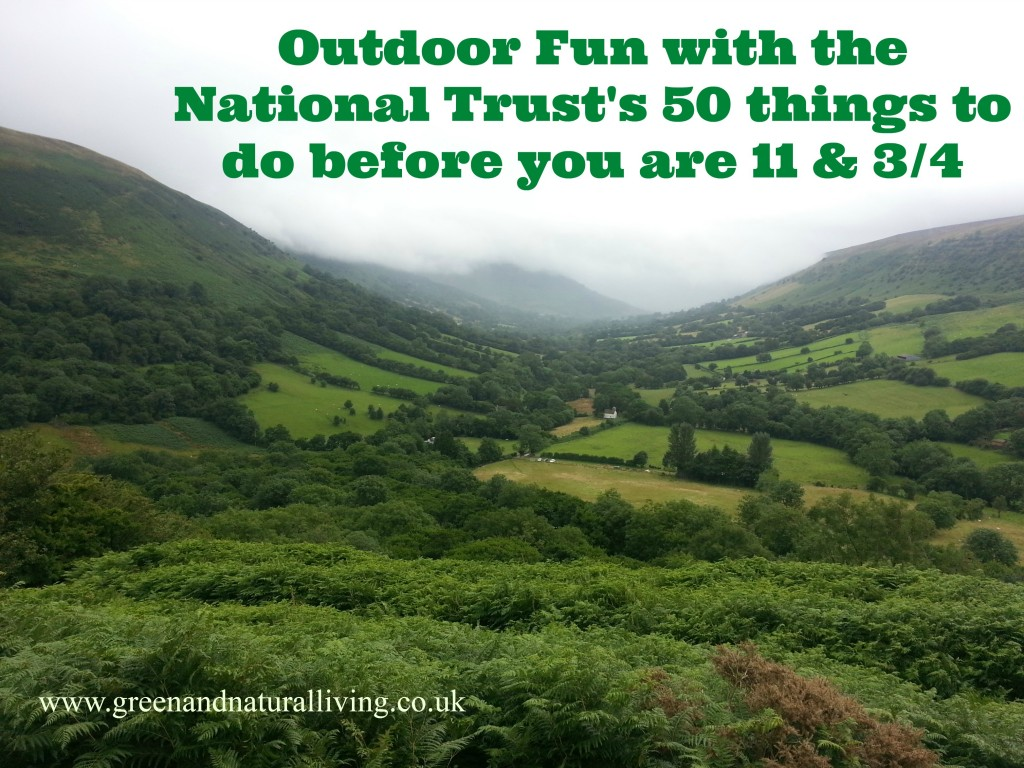 Outdoor Fun with the National Trust's 50 things to do before you are 11 & 3/4