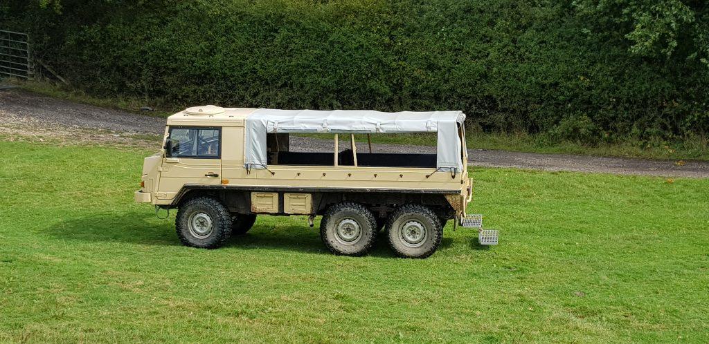 Safari vehicle at Knepp Safaris