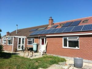 Solar panels installed 2013