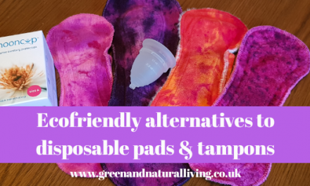 Ecofriendly alternatives to disposable sanitary pads and tampons